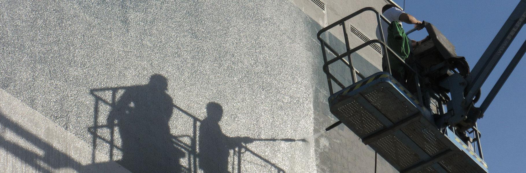 tvättning av fasad